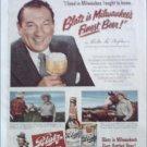 1950 Blatz Beer ad featuring Victor McLaglen