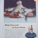 1947 Budweiser Beer Christmas ad featuring Santa