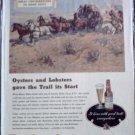 Budweiser Beer Wagon Train ad