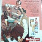 1950 Budweiser Beer ad