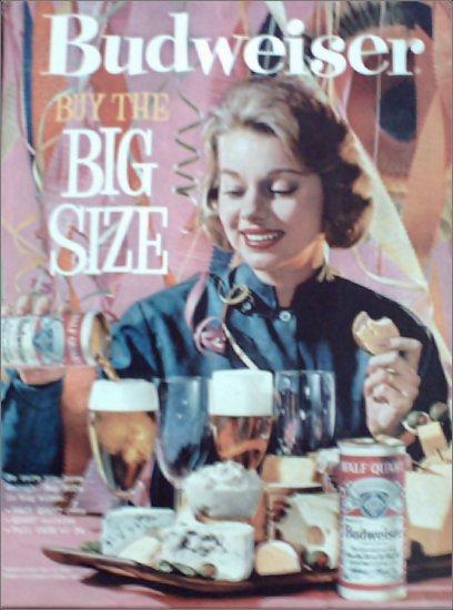 1961 Budweiser Beer Big Size ad