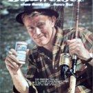 1961 Budweiser Beer Fisherman ad