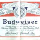 1966 Budweiser Beer Label ad