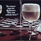 1967 Budweiser Beer Checkerboard ad
