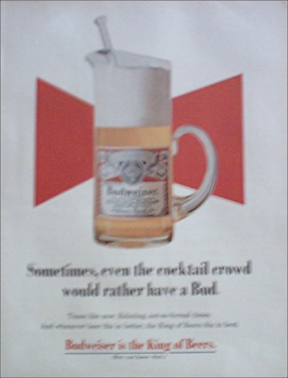 1969 Budweiser Beer ad #1