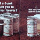 1969 Budweiser Tab Top Beer ad #3