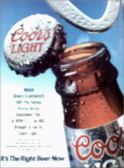 1991 Coors Light Beer ad