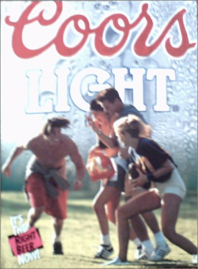 1992 Coors Light Beer ad #1