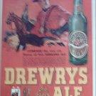 1948 Drewrys Ale ad