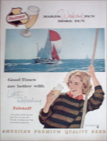 1960 Falstaff Beer Sailboat ad