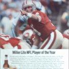Miller Lite Beer ad featuring Joe Montana