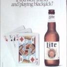 1989 Miller Lite Beer Card Deck ad
