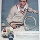 1945 Pabst Blue Ribbon Beer Tennis ad