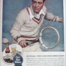 1945 Pabst Blue Ribbon Beer Tennis ad