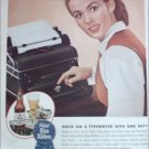 1945 Pabst Blue Ribbon Beer Typist ad