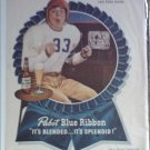 1947 Pabst Blue Ribbon Beer ad featuring Eddie Cantor