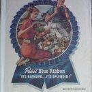 1947 Pabst Blue Ribbon Beer Picnic ad
