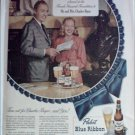 1948 Pabst Blue Ribbon Beer ad Featuring Mr & Mrs Charles Boyer