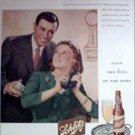 1945 Schlitz Beer Couple ad