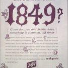 1965 Schlitz Beer 1849 ad