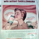 1958 Chase & Sanborn Coffee ad