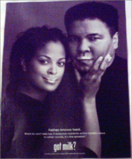 Got Milk ad featuring Muhammad & Laila Ali