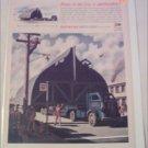 WW II Autocar Flatbed Tractor Trailer Truck ad
