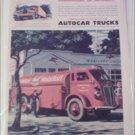 1946 Autocar Mobiloil Socony-Vacuum Tanker Truck ad
