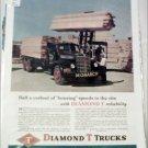 1948 Diamond T Flatbed Monarch Lumber Truck ad