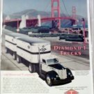 Diamomd T  Model 910 Tractor Trailer Truck at Golden Gate Bridge ad