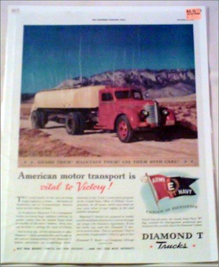 1942 Diamond T Tanker Trailer Truck ad