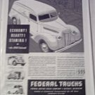 1940 Federal Panel Delivery Truck ad