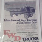1920 FWD Truck ad