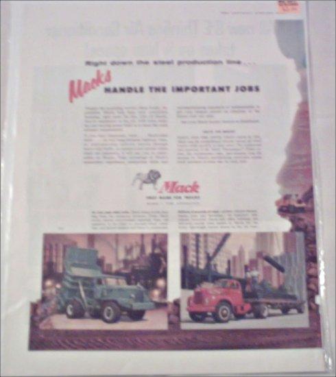1956 Mack Truck ad