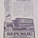 1919 Republic Truck ad featuring H D Lee Mercantile