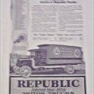 1919 Republic Truck ad featuring H D Lee Mercantile
