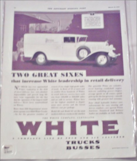 1930 White Delivery Truck ad