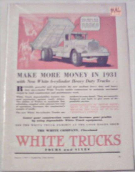 1931 White Dump Truck ad
