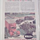 WWII White Tractor Trailer & Military Truck ad
