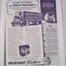1941 Fruehauf Trailer ad featuring Cudahy of Cudahy Wisc.