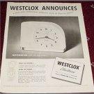Westclox Moonbeam Electric Clock ad