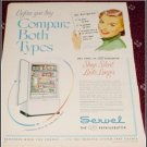 1950 Servel Gas Refrigerator ad