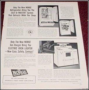 1950 Norge Appliances ad