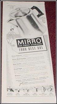 1952 Mirro Mini Percolator ad