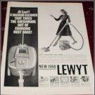 1960 Lewyt Vacum Cleaner ad