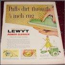 1956 Lewyt Vacum Cleaner ad