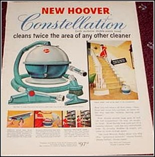 1955 Hoover Constellation Vacum Cleaner ad