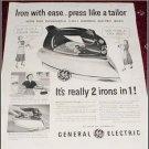 1951 GE Electric Iron ad