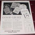 1935 GE Mazda Lamp ad