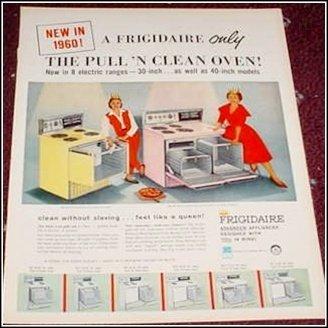 1960 Frigidaire Electric Range ad